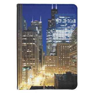 Night view of cityscape of Chicago Kindle 4 Case