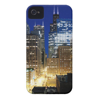 Night view of cityscape of Chicago Case-Mate iPhone 4 Case