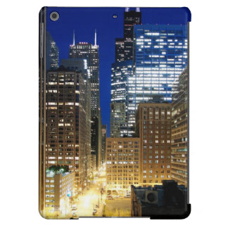 Night view of cityscape of Chicago Cover For iPad Air