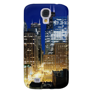 Night view of cityscape of Chicago Galaxy S4 Cover