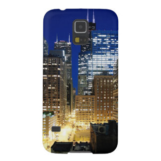 Night view of cityscape of Chicago Galaxy S5 Case