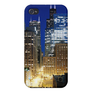 Night view of cityscape of Chicago iPhone 4/4S Cover