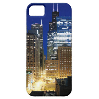 Night view of cityscape of Chicago iPhone SE/5/5s Case
