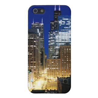 Night view of cityscape of Chicago iPhone SE/5/5s Cover