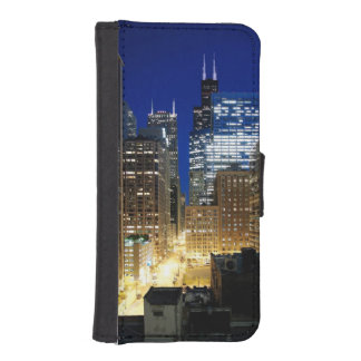 Night view of cityscape of Chicago iPhone SE/5/5s Wallet