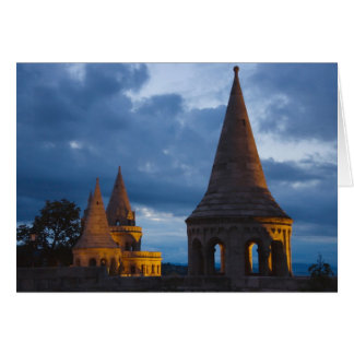 Night view of Fisherman's Bastion, Castle Hil Cards