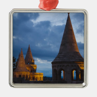 Night view of Fisherman's Bastion, Castle Hil Christmas Ornaments