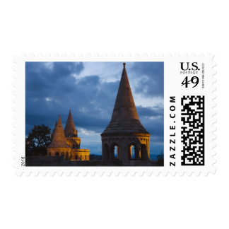 Night view of Fisherman's Bastion, Castle Hil Postage Stamps