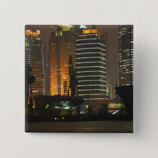 Night view of highrises in Pudong New Area by Button
