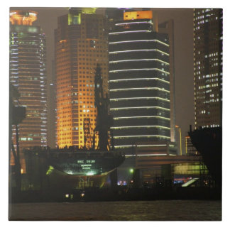 Night view of highrises in Pudong New Area by Ceramic Tile