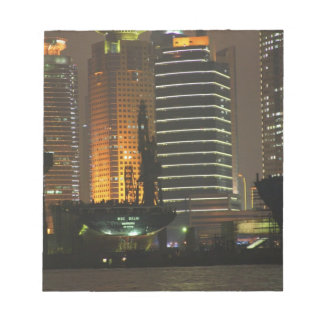 Night view of highrises in Pudong New Area by Notepad