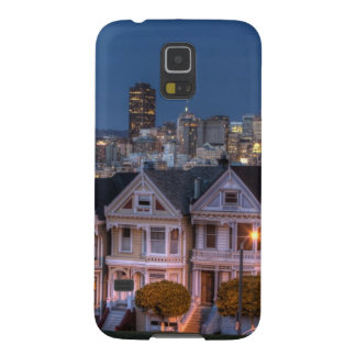 Night view of 'painted ladies'  houses galaxy s5 case