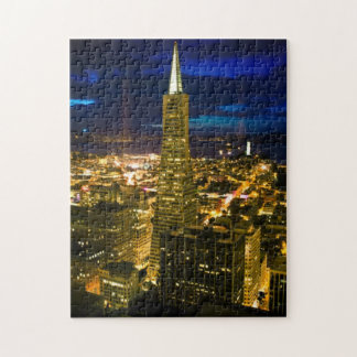 Night view of San Francisco. Jigsaw Puzzle
