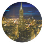Night view of San Francisco. Party Plate