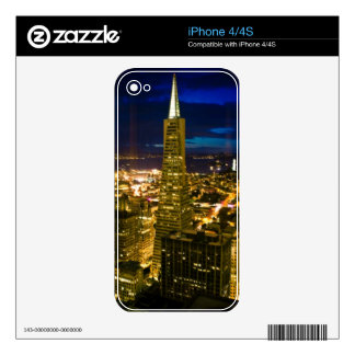 Night view of San Francisco. Skins For The iPhone 4
