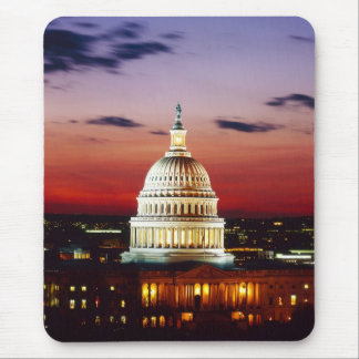 Night view of the U.S. Capitol Mousepad