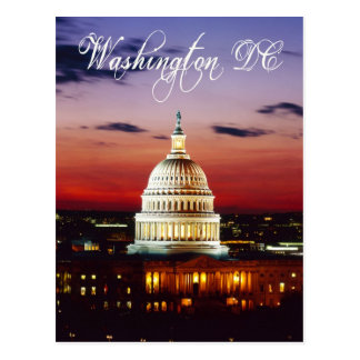 Night view of the U.S. Capitol Postcards