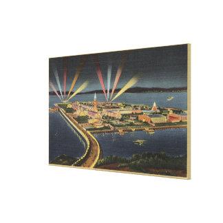 Night View of Treasure Island, Internat'l Expo Canvas Print