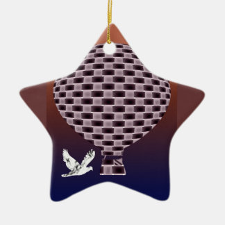 Night vision balloon and bird ceramic ornament