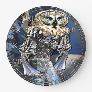Night Vision Device Owl Large Clock