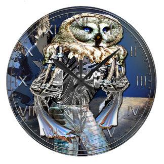 Night Vision Device Owl Wallclock