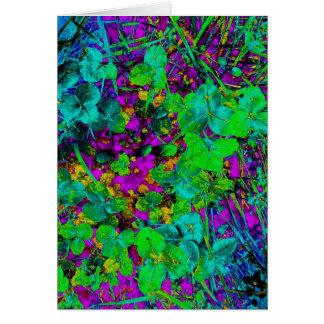 Night Vision Garden Flowers Art Photo Blank Inside Card