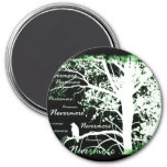 Night Vision Nevermore Raven Silhouette Magnets
