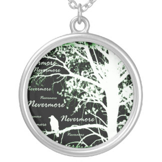 Night Vision Nevermore Raven Silhouette Custom Jewelry