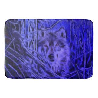Night Warrior Wolf Bathmat