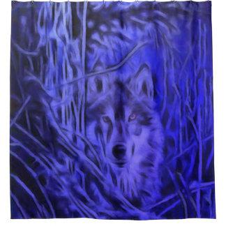 Night Warrior Wolf Shower Curtain
