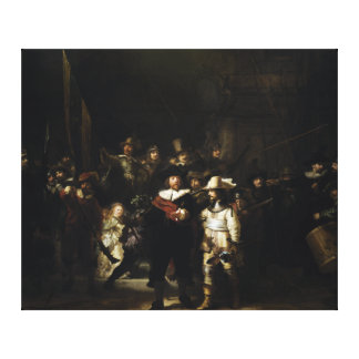 Night Watch by Rembrandt Canvas Print