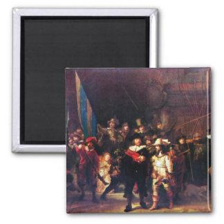 Night Watch by Rembrandt Harmenszoon van Rijn Refrigerator Magnets