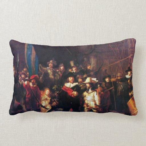 Night Watch by Rembrandt Harmenszoon van Rijn Throw Pillows