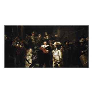 Night Watch by Rembrandt Personalized Photo Card