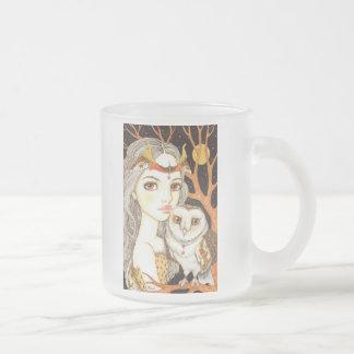 Night Watch Frosted Glass Coffee Mug