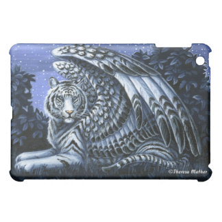 Night Watch Winged White Tiger iPad Case
