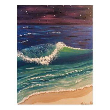 paintingbuzz Night Wave Postcard