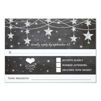 Night Wedding Under the Stars RSVP Card