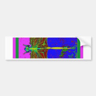 Night Wing Dragonfly Moonscape by Sharles Car Bumper Sticker