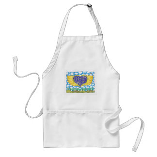NIGHT WINGED HEART by Ruth I. Rubin Adult Apron