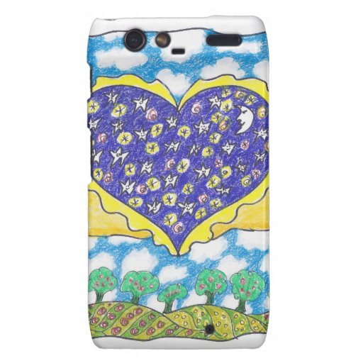 NIGHT WINGED HEART by Ruth I. Rubin Droid RAZR Covers