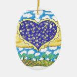 NIGHT WINGED HEART by Ruth I. Rubin Christmas Tree Ornament