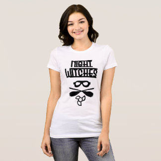 Night Witches Ladies T shirt White Relaxed