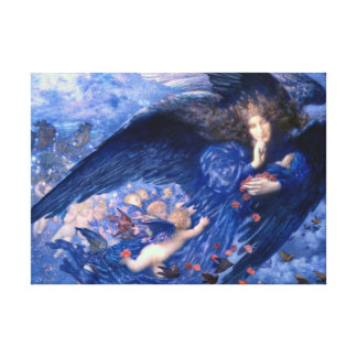 Night with Her Train of Stars Fine Art Canvas Print