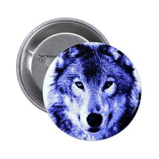 Night Wolf 2 Inch Round Button