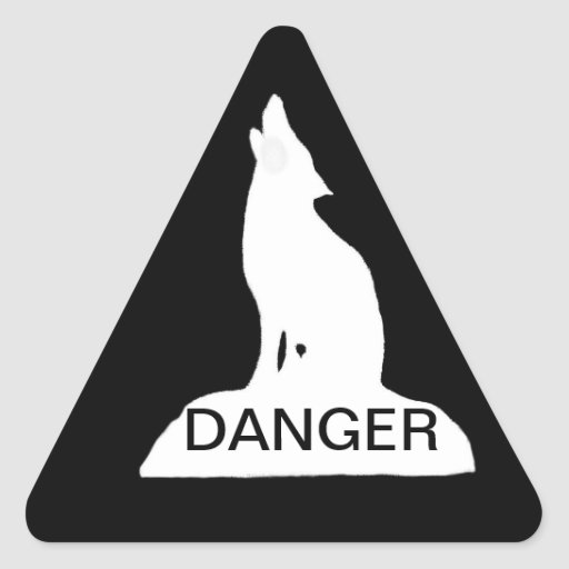 NIGHT WOLF - DANGER TRIANGLE STICKER