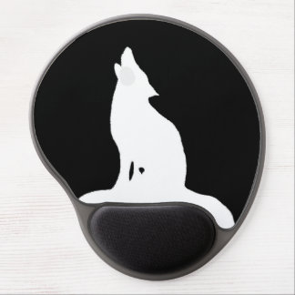 NIGHT WOLF GEL MOUSE PAD