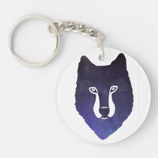 Night Wolf Keychain