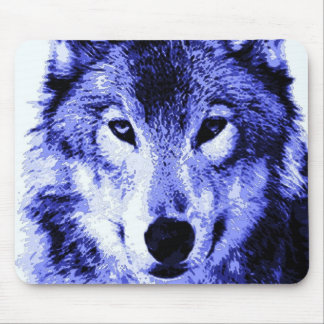 Night Wolf Mouse Pad