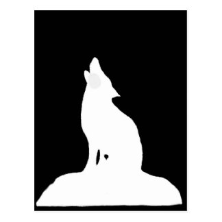 NIGHT WOLF POSTCARD